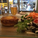 Quiche & Salad with Apple Ginger Herbal Tea