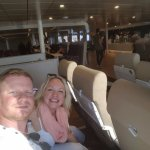 Our seats near the back of the ferry, very spacious and open
