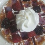Belgium Waffle with Berry Topping