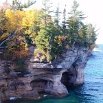 Pictured Rocks in the fall