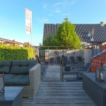 Enjoy the sun on our trandy roof-terrace
