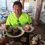 Great Lobster at Solomons Landing--But do not belive that time share guy Juan Carlos