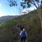 Recorriendo los vestigios de un camino Inca