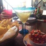 fresh salsa and margarita