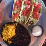 tacos and black beans and rice