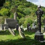 old cemetery looking toward chapel