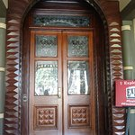 Front door you enter on the new tour. previously no one other than sarah winchester went through