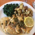 Chicken Piccata with potatoes, lemon & capers