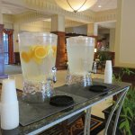 Fresh orange water in the lobby 24/7