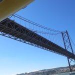 ship nearly under bridge