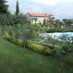 Grounds Main hotel and mountains