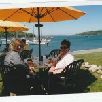 Perfect setting for a seafood dinner. The Terrace Grille at the Bar Harbor Inn.