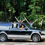 "Cruising in style with our faithful ""Ella"" on the Road to Hana private tour"