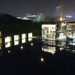 Night view with reflection in water