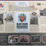 Tray liner featuring the historic facts about the Davison family.