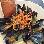 Coconut Curry Blue Hill Mussels