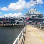 Walking to the USS Yorktown