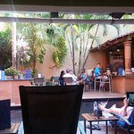 Nice ambience at the pool/bar area