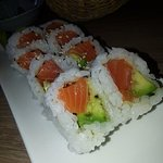 Alaska roll with Soy paper, very fresh, melt in your mouth
