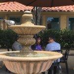 Outdoor patio fountain