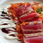 Tuna appetizer is enough for a meal