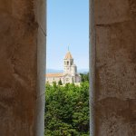 Church and monastery of the Lérins Abbey from the fortified monastery