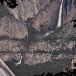 Yosemite falls from the John Muir trail