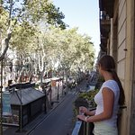 View from the breakfast room balcony, right on LaRambla