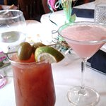 My bloody mary and my wife's cosmo