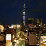 Looking at Skytree from our window