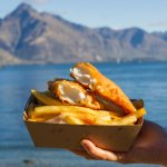 Delicious Fish and Chips by the Lake