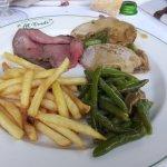 Carne patatine e fagiolini