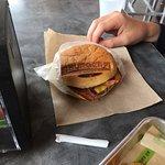 Bacon Cheeseburger with the Burgerfi brand