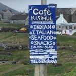 Sign for Cafe Kisimul on Barra!