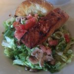 Salmon Salad with Honey Croissant