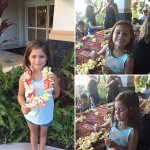 Making lei's in the kids club