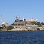 Close-up view of Alcatraz Penitentiary