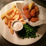 From monday to friday we always have a lunch deals, one of them is our delicious scampi and chip