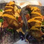 Beer battered fish taco
