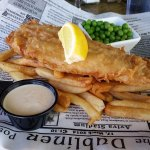 Fish and Chips with a side of peas