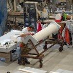 granite column in factory