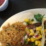 Grilled Redfish with Mango Salsa Tacos