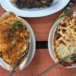 lobster mac & cheese and potatoes gratin