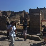 Our knowledgeable and great tour guide in Pompeii!