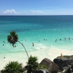 This is the beach in town by the Mayan Ruins