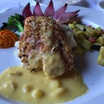 Almond Crusted Salmon with Beurre Blanc