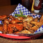 20 piece wings honey and black jack......dry and chewy drumsticks