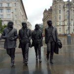 Beatles statues at Pier Head