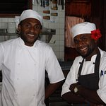 Two of the four chefs who provided us with excellent dishes