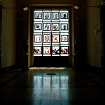 Stained glass window at Ariana Museum
